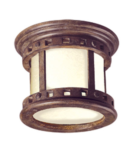 Maxim Lighting Santa Barbara Energy Efficient 1 Light Outdoor Ceiling Mount In Sienna 85030mose