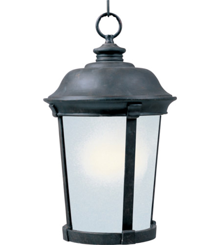 Maxim 85099FSBZ Dover Energy Efficient 1 Light 12 inch Bronze Outdoor Hanging Lantern photo