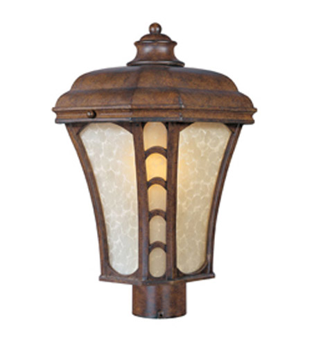 Maxim Lighting Lake Shore VX ES 1 Light Outdoor Pole/Post Mount in Antique Pecan 85480LTAP photo