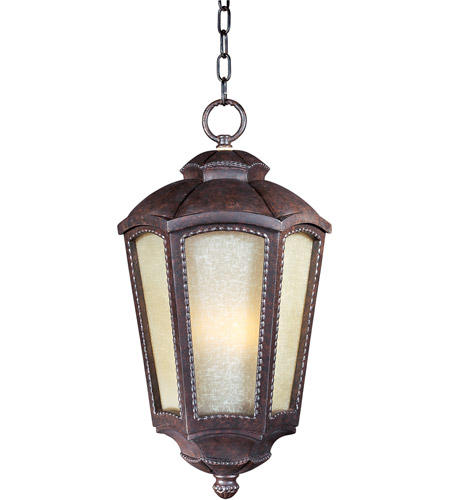 Maxim 85497TLML Pacific Heights VX Energy Efficient 1 Light 11 inch Mottled Leather Outdoor Hanging Lantern photo