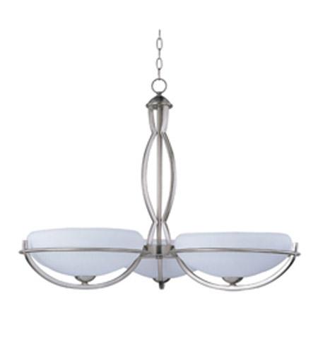 Maxim Lighting Cupola Es 3 Light Single Tier Chandelier In Satin Nickel 85565wtsn Photo