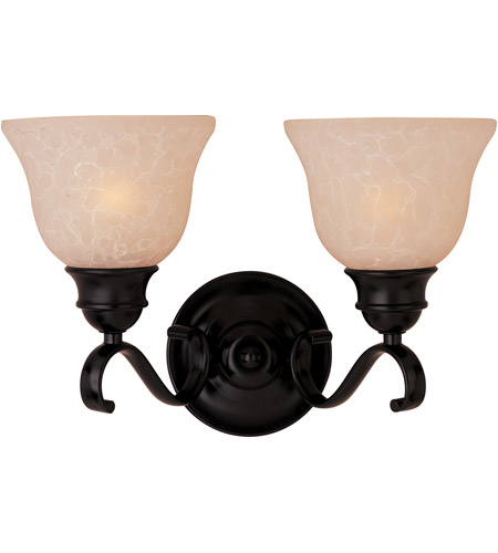 Maxim 85808WSOI Linda Energy Efficient 2 Light 15 inch Oil Rubbed Bronze Bath Light Wall Light in Wilshire  photo