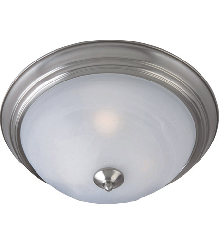 Maxim 85842MRSN Flush Mount Energy Efficient 3 Light 16 inch Satin Nickel Flush Mount Ceiling Light in Marble photo