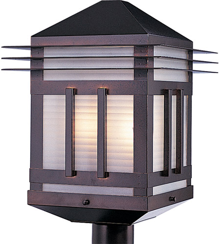 Maxim Lighting Gatsby 2 Light Outdoor Pole/Post Lantern in Burnished 8725PRBU photo