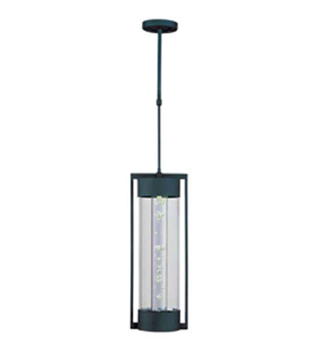 Maxim Lighting New Age LED 1 Light Outdoor Hanging Lantern in Texture Ebony 88357CLTE photo