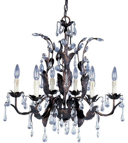 Maxim 8835OI Grove 6 Light 27 Inch Oil Rubbed Bronze Single Tier Chandelier  Ceiling Light Photo