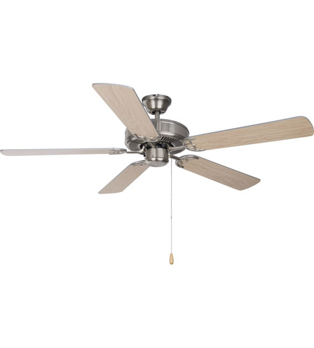 Maxim 89905SN Basic-Max 52 inch Satin Nickel Indoor Ceiling Fan