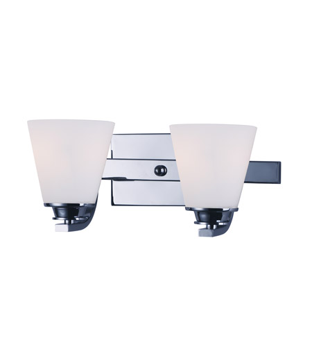 Maxim 9012swpc Conical 2 Light 13 Inch Polished Chrome Vanity Wall