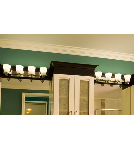 Maxim 9014SWSN Conical 4 Light 26 inch Satin Nickel Bath Light Wall Light in 26.25 in. photo