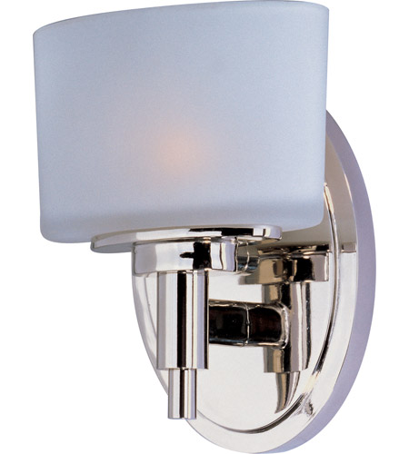 Maxim 9021SWPN Lola 1 Light 6 inch Polished Nickel ADA Wall Sconce Wall Light photo