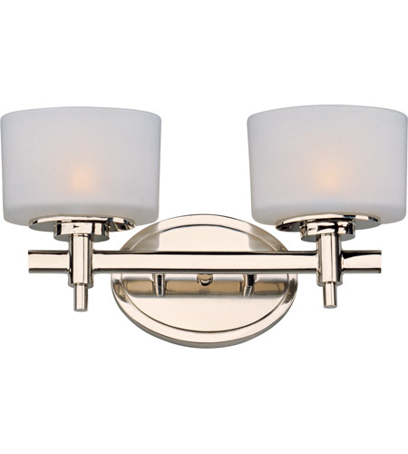 Maxim 9022SWPN Lola 2 Light 14 Inch Polished Nickel Bath Light Wall Light  In 13.75 In.