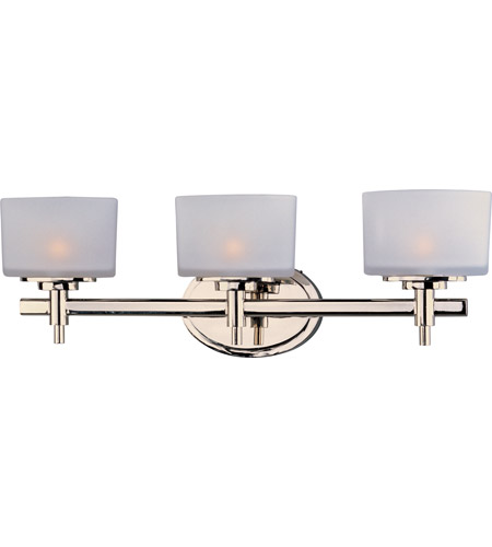 Great Maxim 9023SWPN Lola 3 Light 22 Inch Polished Nickel Bath Light Wall Light  In 22.25 In.