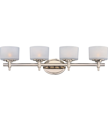 Maxim 9024SWPN Lola 4 Light 31 Inch Polished Nickel Bath Light Wall Light  In 30.75 In