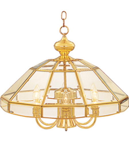Maxim Lighting Bound Glass 7 Light Single Tier Chandelier in Polished Brass 90329CLPB photo
