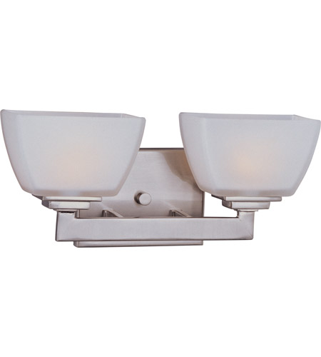 Maxim 9032SWSN Angle 2 Light 14 inch Satin Nickel Bath Light Wall Light in 13.5 in. photo