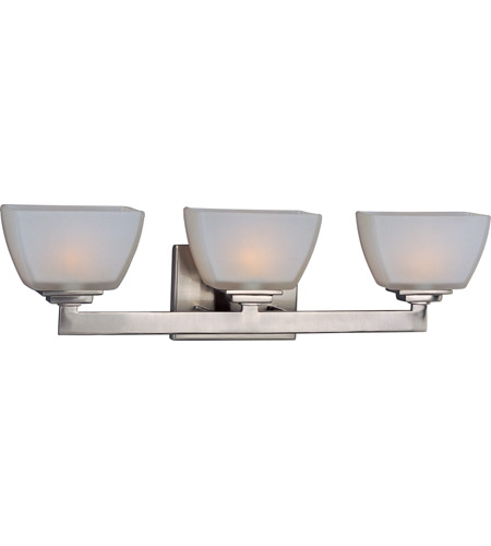 Maxim 9033SWSN Angle 3 Light 21 inch Satin Nickel Bath Light Wall Light in 21.25 in. photo