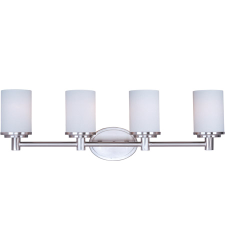 Maxim SWSN Cylinder Light Inch Satin Nickel Bath Light Wall - Satin nickel bathroom lights