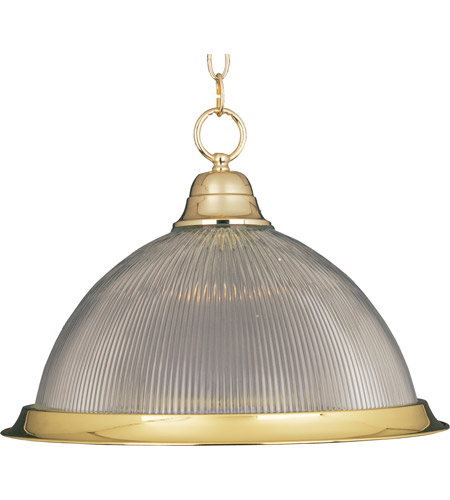 Maxim Lighting Builder Basics 1 Light Pendant in Polished Brass 91102CLPB photo