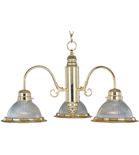 Maxim Lighting Builder Basics 3 Light Down Light Chandelier in Polished Brass 91193CLPB photo