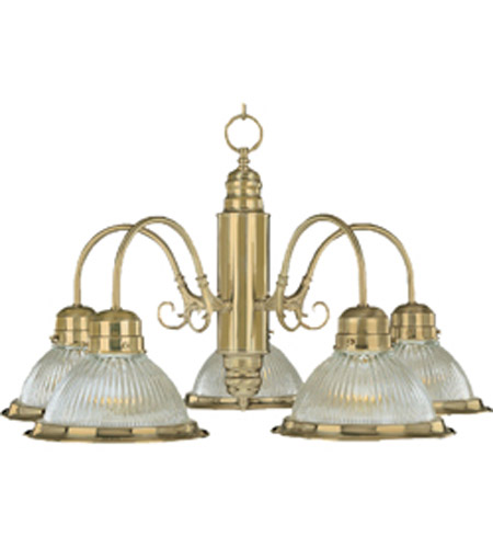 Maxim Lighting Builder Basics 5 Light Down Light Chandelier in Polished Brass 91195CLPB photo