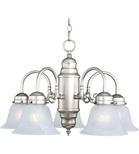 Maxim Lighting Builder Basics 5 Light Down Light Chandelier in Satin Nickel 91197MRSN photo