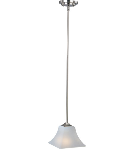 Maxim 92090FTSN Aurora 1 Light 8 inch Satin Nickel Mini Pendant Ceiling Light photo