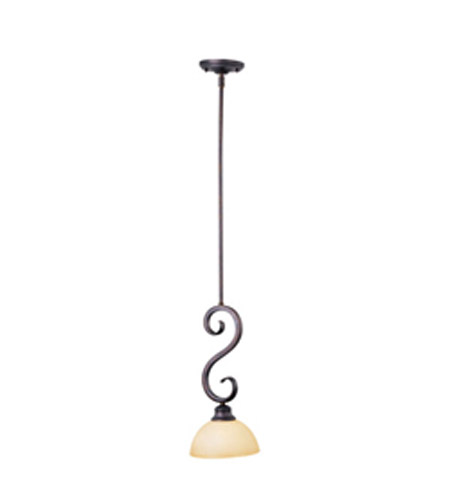 Maxim Lighting Ophelia 1 Light Mini Pendant in Colonial Umber 92300BLCU photo