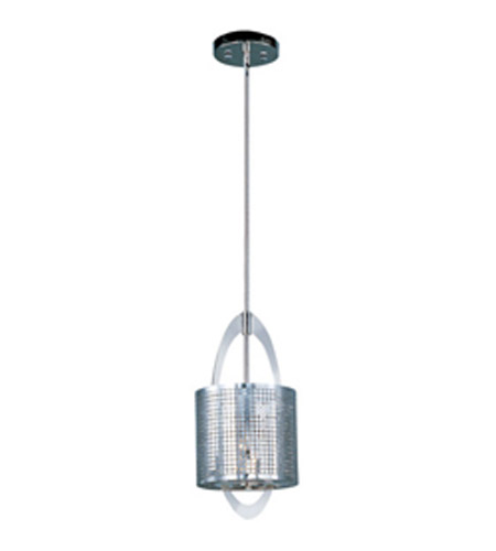 Maxim 92300PN Mirage 1 Light 8 inch Polished Nickel Mini Pendant Ceiling Light photo