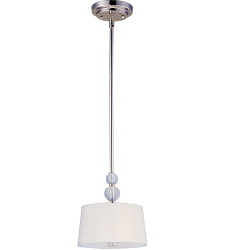 Maxim 92750WTPN Rondo 1 Light 9 inch Polished Nickel Mini Pendant Ceiling Light photo