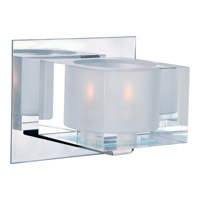 Maxim 10001CLPC Cubic 1 Light 6 inch Polished Chrome Bath Light Wall Light