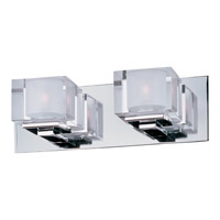 Cubic 2 Light 15 inch Polished Chrome Bath Light Wall Light