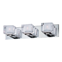 Maxim 10003CLPC Cubic 3 Light 22 inch Polished Chrome Bath Light Wall Light photo thumbnail