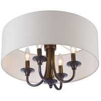 Bongo 4 Light 18 inch Oil Rubbed Bronze Semi-Flush Mount Ceiling Light