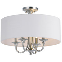 Bongo 4 Light 18 inch Satin Nickel Semi-Flush Mount Ceiling Light