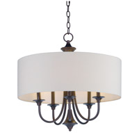 Maxim 10015OMOI Bongo 5 Light 22 inch Oil Rubbed Bronze Multi-Light Pendant Ceiling Light