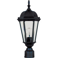 Maxim Lighting Westlake 1 Light Outdoor Pole/Post Lantern in Black 1001BK