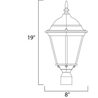 Maxim 1001BK Westlake 1 Light 19 inch Black Outdoor Pole/Post Lantern alternative photo thumbnail