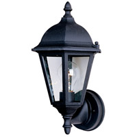 Maxim 1002BK Westlake 1 Light 15 inch Black Outdoor Wall Mount