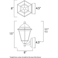 Maxim Lighting Westlake 1 Light Outdoor Wall Mount in Empire Bronze 1002EB alternative photo thumbnail