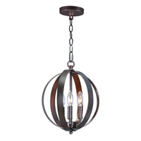 Maxim 10030OI Provident 3 Light 12 inch Oil Rubbed Bronze Single Pendant Ceiling Light