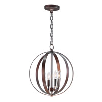 Provident 4 Light 16 inch Oil Rubbed Bronze Single Pendant Ceiling Light