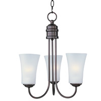 Maxim Lighting Logan 3 Light Single-Tier Chandelier in Oil Rubbed Bronze 10043FTOI