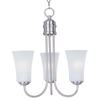 Maxim Lighting Logan 3 Light Single-Tier Chandelier in Satin Nickel 10043FTSN