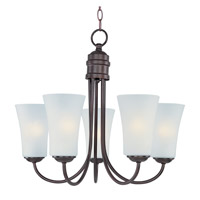 Maxim Lighting 5 Light Logan Chandelier in Oil Rubbed Bronze 10045FTOI