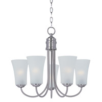 Maxim Lighting 5 Light Logan Chandelier in Satin Nickel 10045FTSN