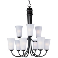 Maxim Lighting Logan 9 Light Multi-Tier Chandelier in Oil Rubbed Bronze 10046FTOI