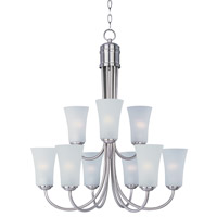 Maxim Lighting Logan 9 Light Single-Tier Chandelier in Satin Nickel 10046FTSN