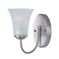 Logan 1 Light 5 inch Satin Nickel Bath Vanity Wall Light