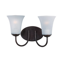 Maxim Lighting Logan 2 Light Bath Vanity in Oil Rubbed Bronze 10052FTOI
