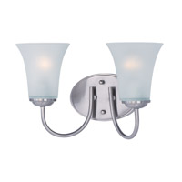 Maxim Lighting Logan 2 Light Bath Vanity in Satin Nickel 10052FTSN